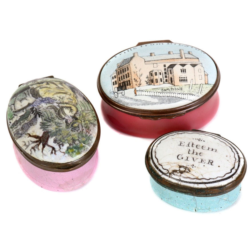 Halcyon Days and Other Enamel Patch and Vanity Boxes