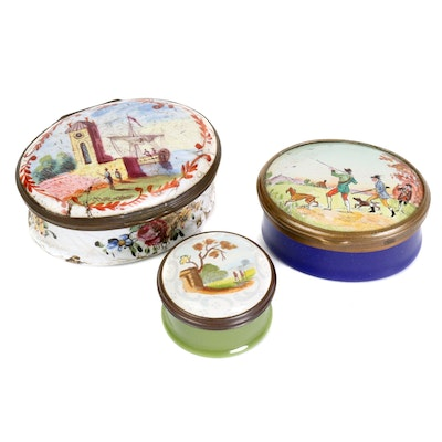19th Century and Halcyon Days Enameled Boxes