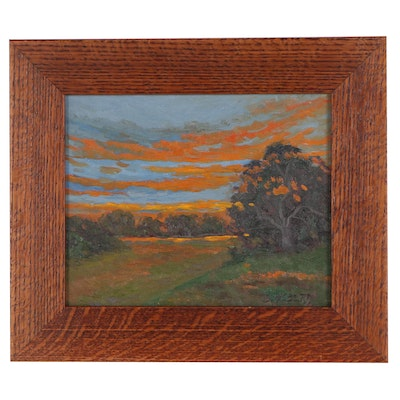 Jesse Don Rasberry Landscape Oil Painting