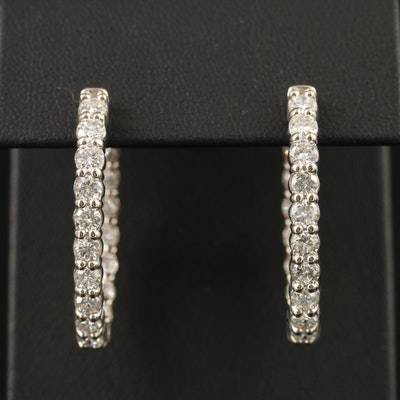 14K 5.01 CTW Diamond Inside-Out Hoop Earrings