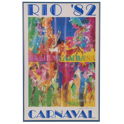 "Leroy Neiman Offset Lithograph ""Rio '82 Carnival,"" Late 20th Century"