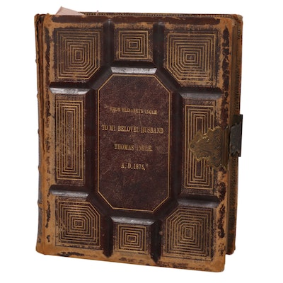 Embossed Leather Bound Holy Bible, Late 19th Century