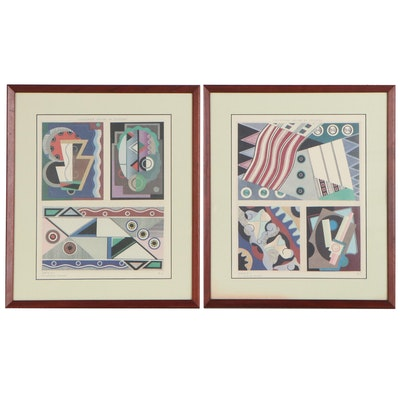 "Offset Lithographs after Georges Valmier ""Collection 'Décors et Couleurs'"""