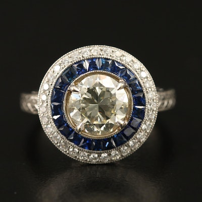 18K 2.09 CTW Diamond Halo Ring