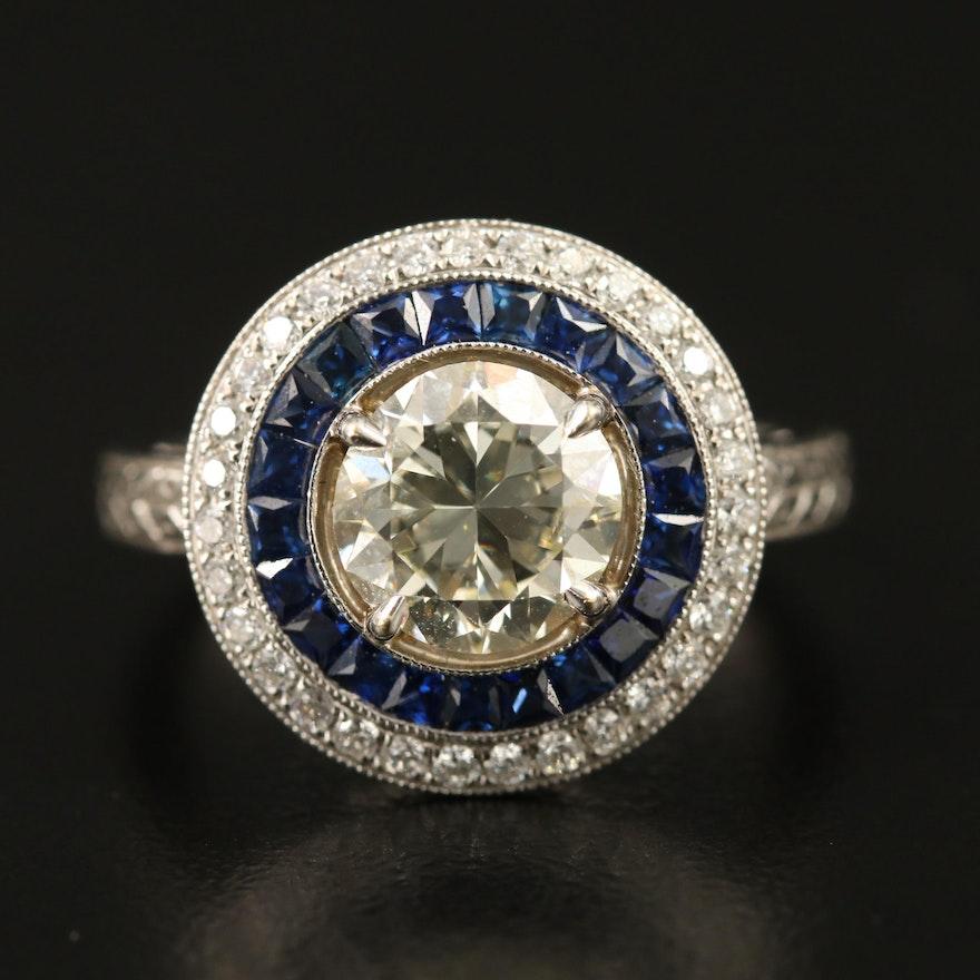18K 2.09 CTW Diamond Halo Ring