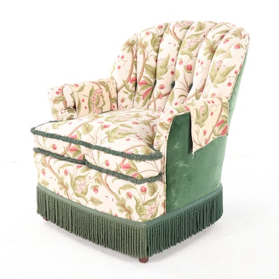 Karpen Furniture Upholstered Arm Chair with Fringe Skirting