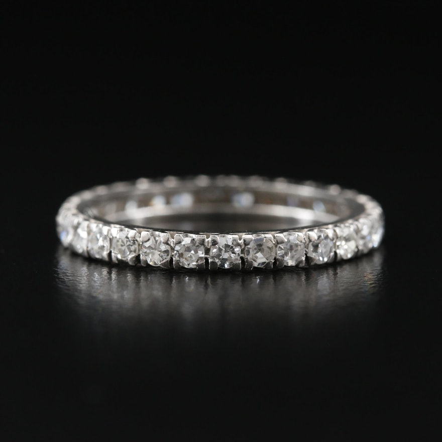 Platinum 1.05 CTW Diamond Eternity Band