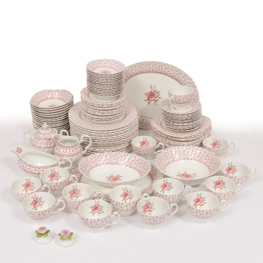 """Johnson Brothers """"Rose Bouquet"""" Dinner and Serveware, 1974–1988"""