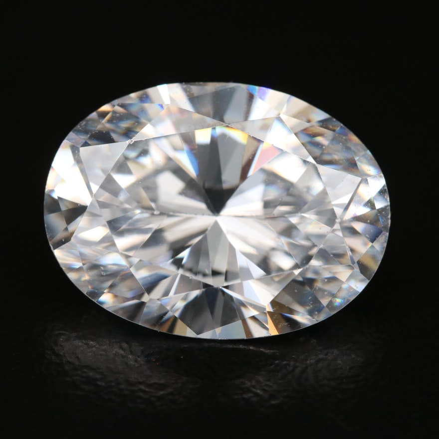 Loose Oval Faceted Cubic Zirconia