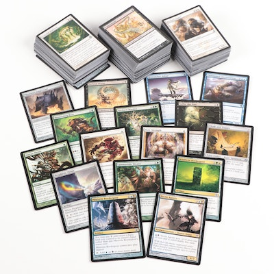 Magic: The Gathering Cards Including Vectis Agents and Mistvein Borderpost