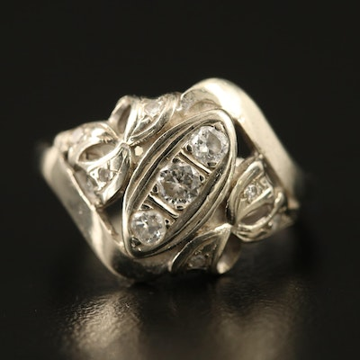 Edwardian Style 14K Diamond Ring