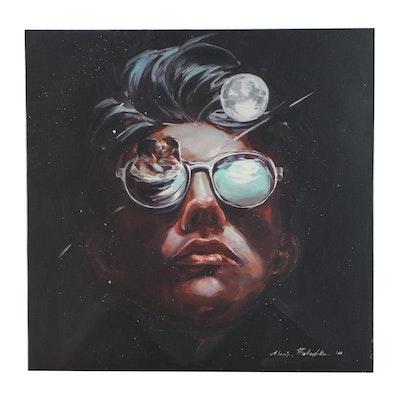 """Maria Babushka Surrealist Style Oil Painting after Aykut Aydoğdu """"Love,"""" 2020"""