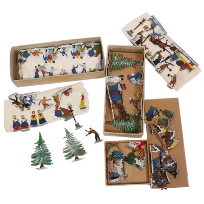 German Hand-Painted and Enameled Ornaments