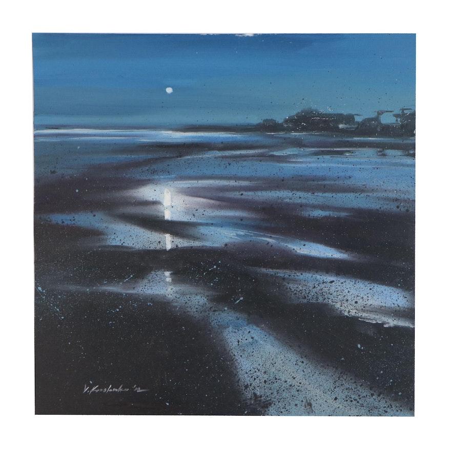 "Victor Kovalenko Oil Painting ""Reflection"", 2020"