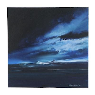 "Victor Kovalenko Oil Painting ""Dawn Is Coming,"" 2020"