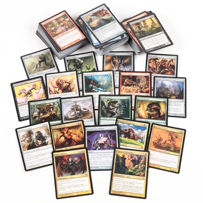 Magic: The Gathering Cards Including Trance of Abundance and Elder Mastery