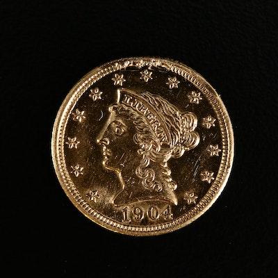 1904 Liberty Head $2.50 Gold Quarter Eagle