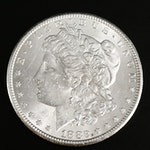 Better Date 1882-CC Morgan Silver Dollar