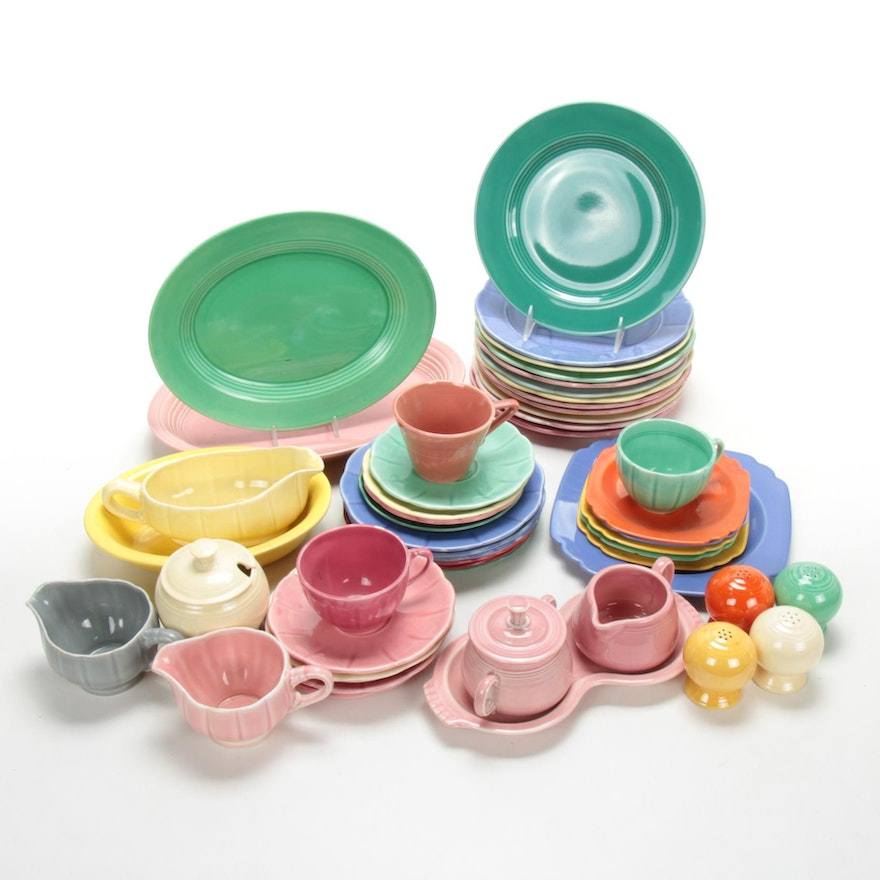 Homer Laughlin Fiestaware and Other Serveware and Table Accessories
