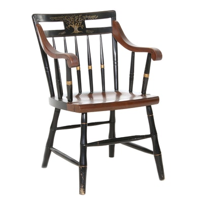 "Ethan Allen ""Liberty Tree"" Hitchcock-Style Armchair, Late 20th Century"