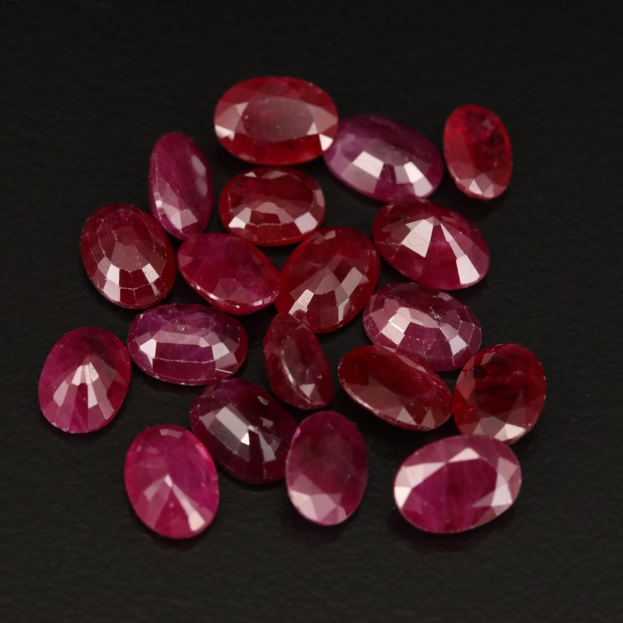 Loose 16.99 CTW Oval Faceted Rubies