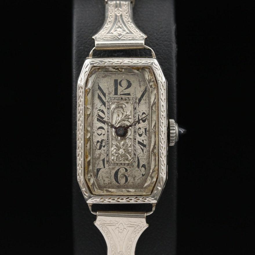 Vintage 14K Swiss Stem Wind Wristwatch