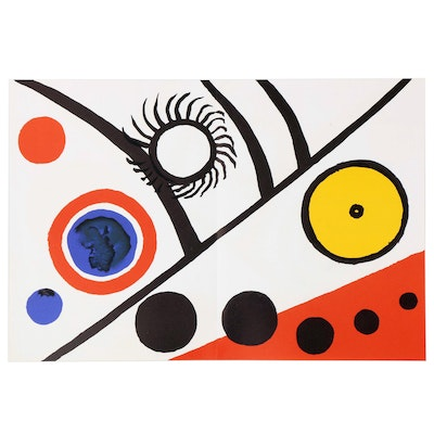 "Alexander Calder Double-Page Color Lithograph for ""Derrière le Miroir"", 1976"