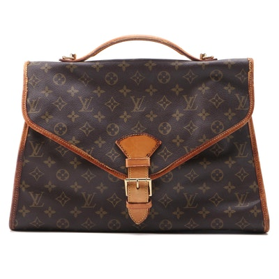 Louis Vuitton Beverly Briefcase MM in Monogram Canvas and Leather
