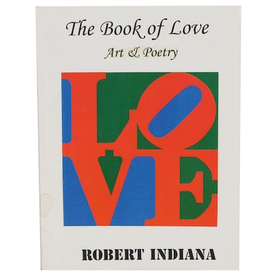 "Offset Lithograph Booklet After Robert Indiana ""The Book of Love Art & Poetry"""