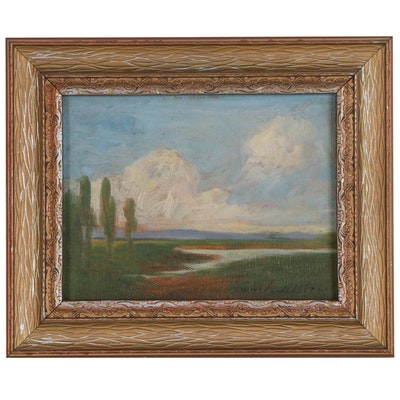 Thomas Jefferson Willison River Landscape Oil Painting, Early 20th Century