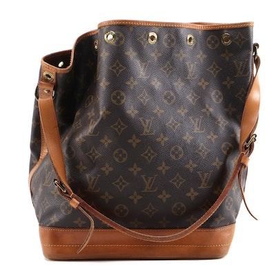 Louis Vuitton Malletier Noé Bucket Bag in Monogram Canvas with Leather Trim