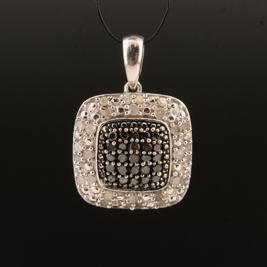 Sterling Pavé Diamond Pendant