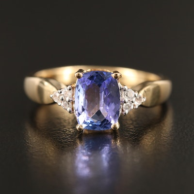 Sterling Silver Tanzanite and Topaz Ring