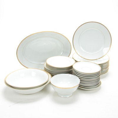 C.T. Altwasser German Gilt Porcelain Dinner and Serveware