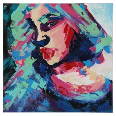 Alyona Glushchenko Oil Painting of Abstract Woman, 2020