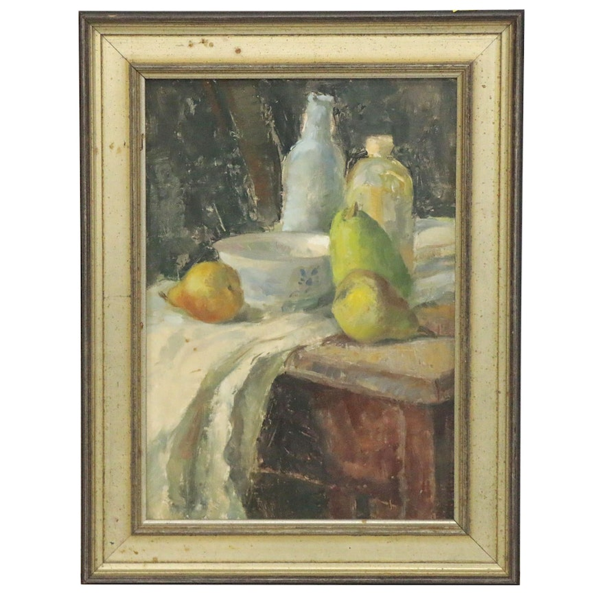 "Still Life Oil Painting ""Animated Silence"", 1987"