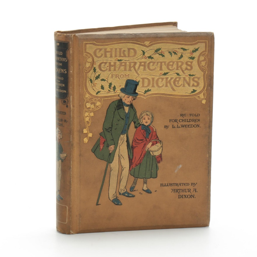 """Illustrated """"Child Characters from Dickens"""" Retold by L. L. Weedon, 1905"""