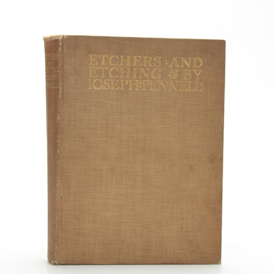 "First Edition ""Etchers and Etching"" by Joseph Pennell, 1919"