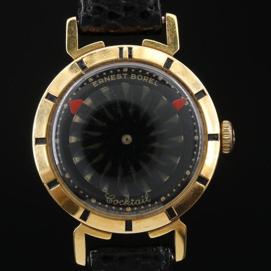 Ernest Borel Cocktail Kaleidoscope Stem Wind Wristwatch, Vintage
