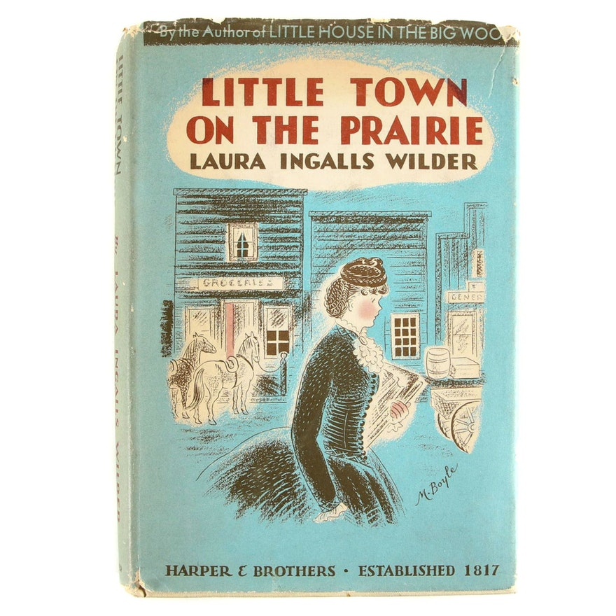 """First Edition """"Little Town on the Prairie"""" by Laura Ingalls Wilder, 1941"""