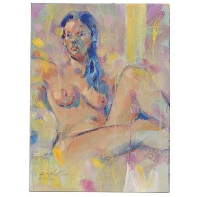 Raymond Zaplatar Figure Acrylic Painting, 2020