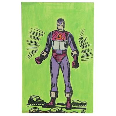 "Andrew Van Sickle Mixed Media Painting ""Spirit of Iron Man 1963,"" 2010"