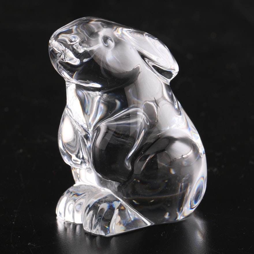 Baccarat Crystal Sitting Rabbit Figurine