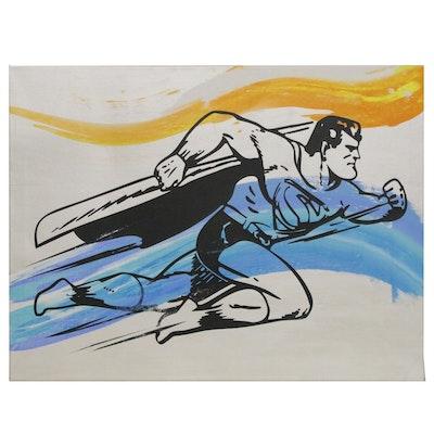 """Andrew Van Sickle Pop Art Silkscreen and Ink """"Superman America '75' """", 2013"""