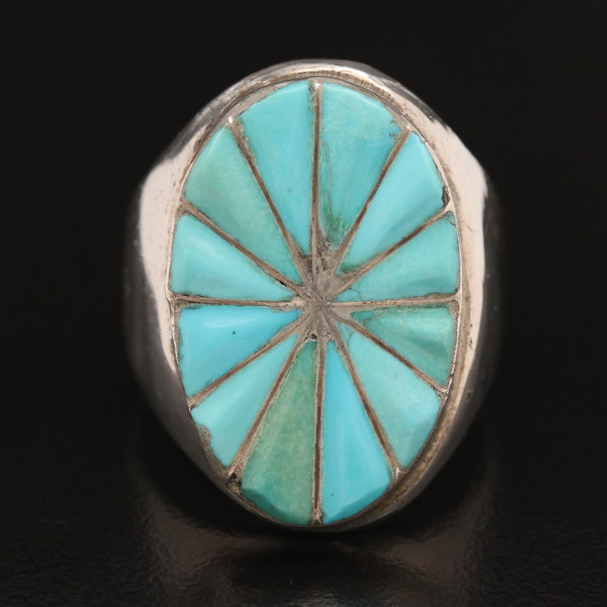 Sterling Inlaid Turquoise Ring