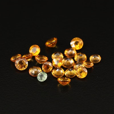 Loose 9.44 CTW Round Faceted Sapphires