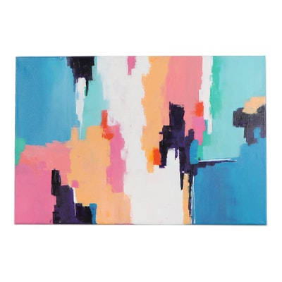 "Sanna Abstract Acrylic Painting ""Unpredictable"", 2020"