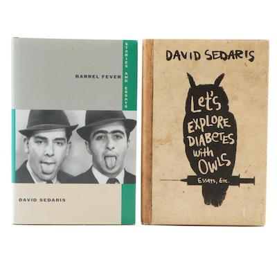 "Signed First Editions ""Barrel Fever"" and ""Let's Explore Diabetes"" by Sedaris"