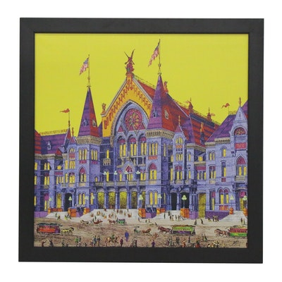 """Andrew Van Sickle Giclée on Canvas """"The Opening Night of Music Hall 1878,""""2017"""