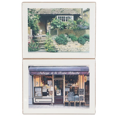 "Stan Beckman Offset Lithographs ""Bed & Breakfast"" & ""Auberge"", Late 20th Century"